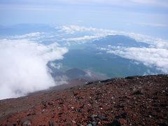 宝永山を上から見る