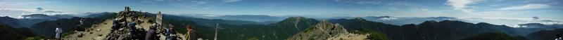 北岳山頂 360度パノラマ